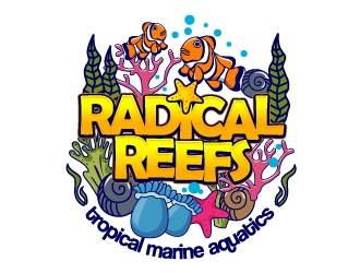 Radical Reefs  logo design