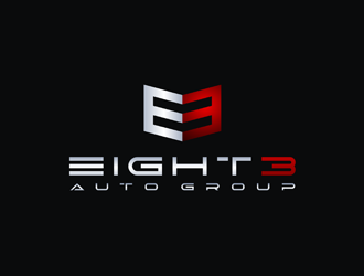 Eight3 auto group logo design