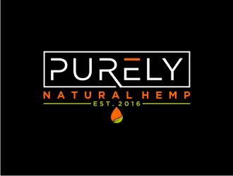 Purely Natural Hemp or CBD logo design
