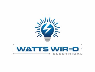 Watts Wired Electrical  logo design
