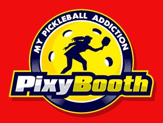 My Pickleball Addiction - Pixy Booth logo design