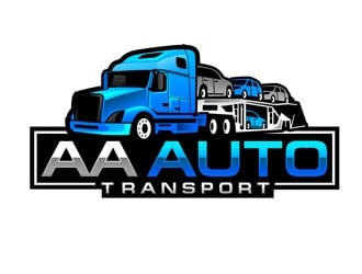 AA Auto Transport logo design