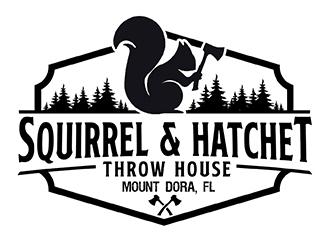 Squirrel and Hatchet Throw House   MountDora, FL logo design