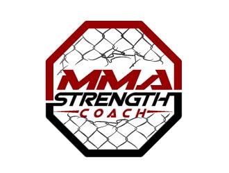 MMA STRENGTH COACH logo design
