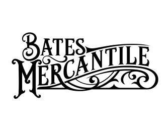 BATES Mercantile logo design