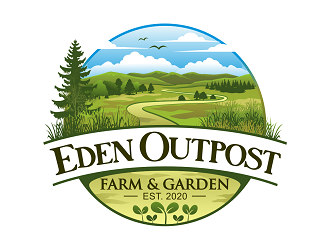 Eden Outpost Farm & Garden logo design
