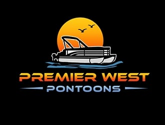 Premier West Pontoons logo design