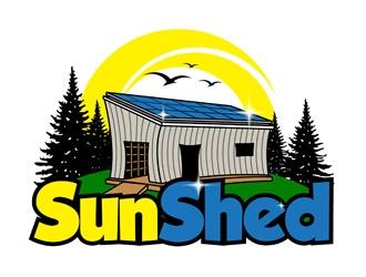 SunShed logo design