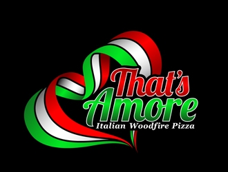 THAT'S AMORE ITALIAN WOODFIRE PIZZA logo design