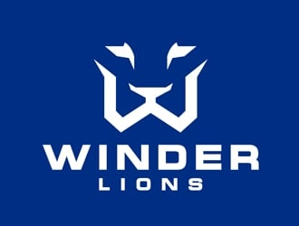 Winder Lions logo design