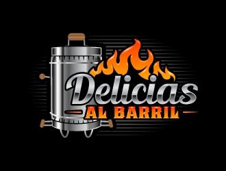 DELICIAS AL BARRIL  logo design