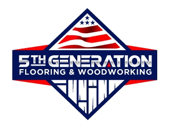 5th Generation Flooring and Woodworking logo design