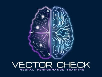 Vector Check (subtitle: Neural Performance Training) logo design