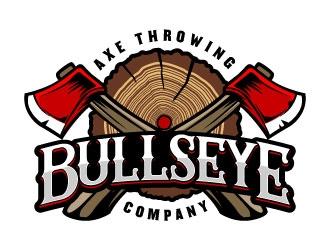 Bullseye Axe Throwing Company logo design