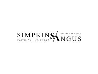Simpkins Angus logo design