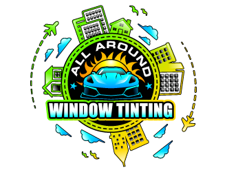 All Around Window Tinting  logo design winner