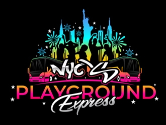 NYC'S Playground Express logo design