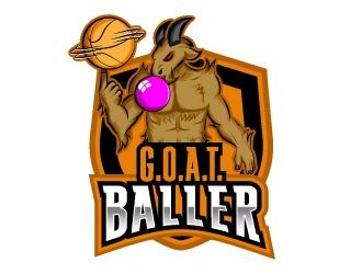 G.O.A.T. Baller logo design by Norsh