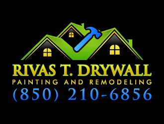RIVAS T. DRYWALL logo design