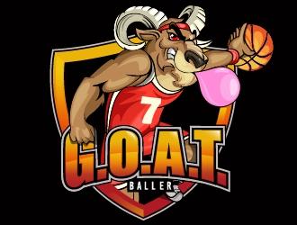 G.O.A.T. Baller logo design by dorijo