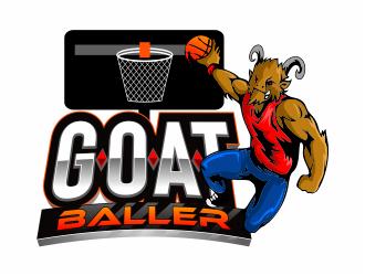 G.O.A.T. Baller logo design by mutafailan