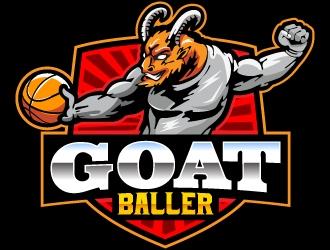 G.O.A.T. Baller logo design by Suvendu