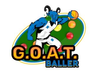 G.O.A.T. Baller logo design by Shailesh