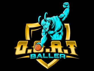 G.O.A.T. Baller logo design by Bambhole