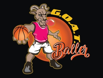G.O.A.T. Baller logo design by gogo