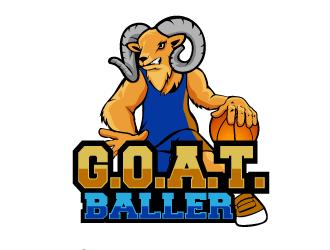 G.O.A.T. Baller logo design by THOR