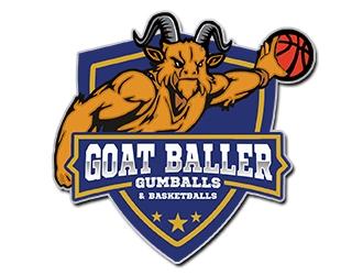 G.O.A.T. Baller logo design by PrimalGraphics