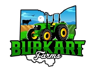 Burkart Farms  logo design