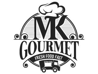 MK Gourmet logo design winner