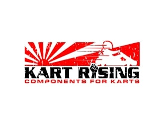 Kart Rising - Components for Karts logo design