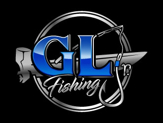 GLj Fishing logo design
