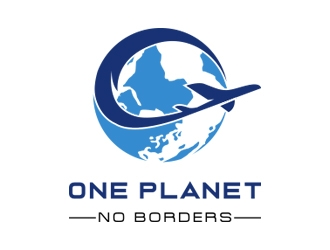 One Planet No Borders logo design by Danny19
