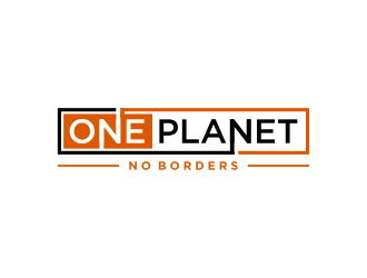 One Planet No Borders logo design by done