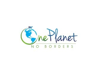 One Planet No Borders logo design by usef44