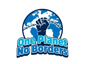 One Planet No Borders logo design by LogOExperT