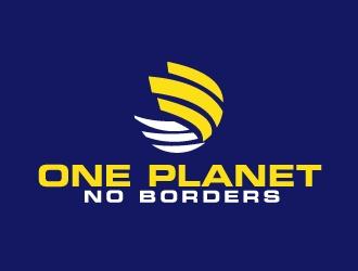 One Planet No Borders logo design by AamirKhan