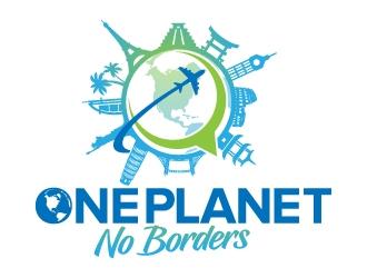 One Planet No Borders logo design by jaize