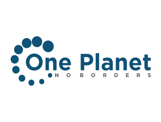 One Planet No Borders logo design by Greenlight