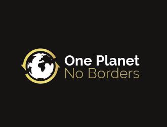One Planet No Borders logo design by spiritz
