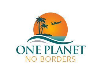 One Planet No Borders logo design by kunejo