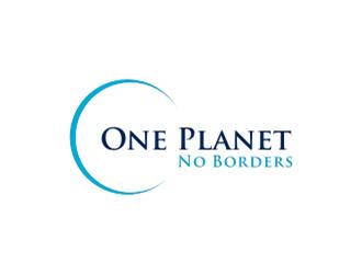 One Planet No Borders logo design by sheila valencia