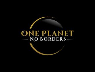 One Planet No Borders logo design by akhi