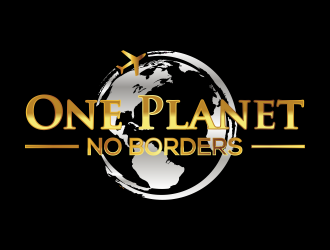 One Planet No Borders logo design by qqdesigns