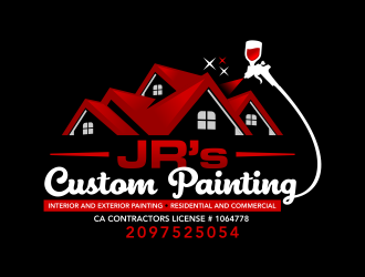 JR's Custom Painting  logo design