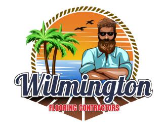 Wilmington Flooring Contractors logo design by bosbejo