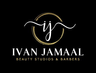 Ivan Jamal Beauty Studios & Barbers logo design